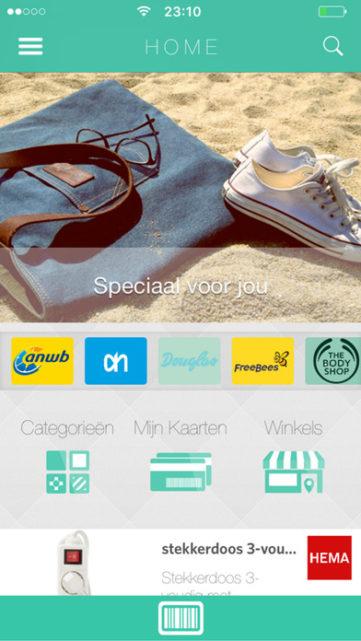 Qlever mobiele applicatie Home Menu